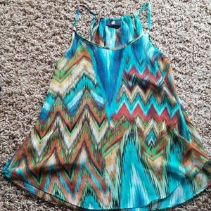 Multicolored dress top